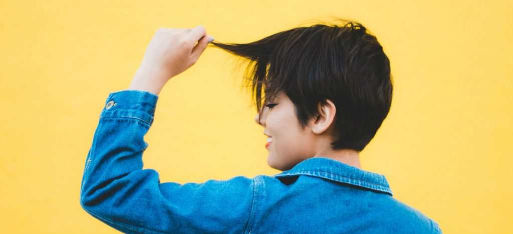 how to trim short hair yourself
