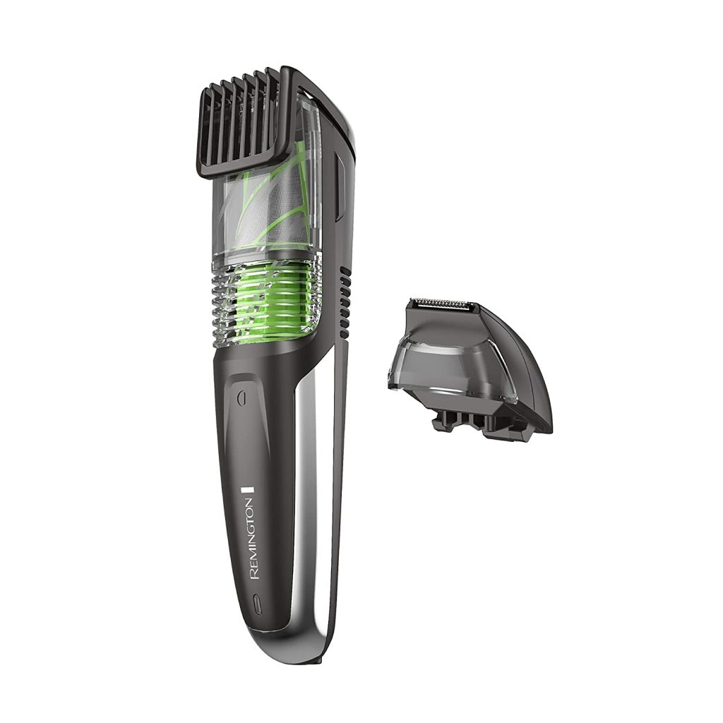 beard trimmer that collects hair
